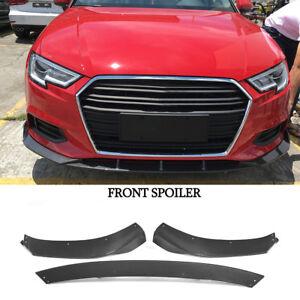 Carbon Frontspoiler Frontlippe Lippe Für Audi A3 Limousine Schwert Front Ansatz
