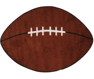 """NFL Sport  Oval  Rug  FOOTBALL Design w/Non Skid Backing Game Ball  28""""x45"""" M9"""