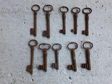 Ancienne clé Clef pleine coffre cadenas serrure Vintage Rétro malle porte keys