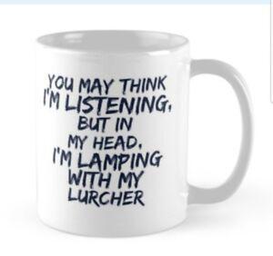 LURCHER LAMPING MUG