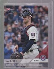 2018 Topps NOW MLB 817 Joe Mauer Catches in Potential Final Game Print Run 1293