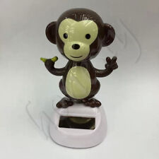 Cute Monkey Take  Solar Power Dancing Toy For Car Home Table Desk Decor Gift