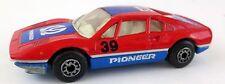 Matchbox Ferrari 308 GTB NR 70 1:55 1981 Rally Pioneer 39 rot blau Sportwagen