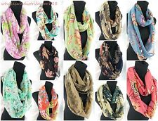 lot of 10 scarves vintage flower 2-loop infinity scarf wholesale women scarves