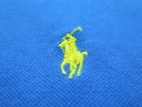 Recent Polo Ralph Lauren Men's Cotton Blue Pullover Polo Shirt 5XB Big Man EUC