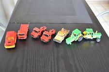 Lot de petites voitures Majorette  : R5 Turbo, Saviem, Tracteurs, Scania,...