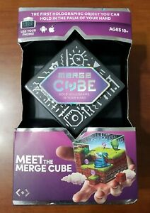 MEET THE MERGE CUBE HOLOGRAPHIC (USE YOUR PHONE) APPS & GAMES! NIB
