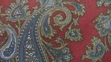 CHRISTIAN DIOR RED BROWN BLUE PAISLEY ART SILK NECKTIE TIE MJA1517C #N16