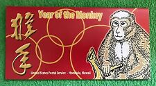 Lunar New Year of the Monkey 37c Stamp FDC RARE ITEM Hawaii 2004 Cover & GIFT