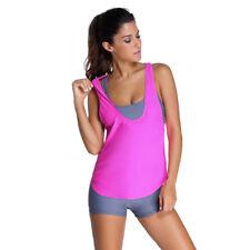 5c6b2d5e14f8f Womens 3 Piece Tankini Bikini Set 12 Push-up Padded Boyshorts Swimwear Plus  Size