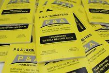 Taxi Driver Weekly Accounts Book Taxi Shop