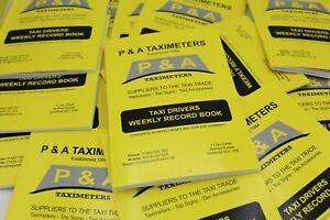 10 X Taxi Driver Minicab Driver Weekly Accounts Book Cab record keeping Tax HMRC