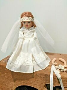 "^NANCY ANN STORYBOOK DOLLS CALIFORNIA MUFFIE 7"" BRIDE DOLL"