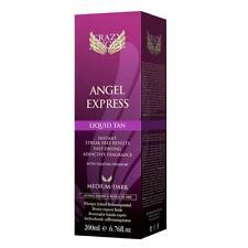 Crazy Angel Express Liquid Tan & Mitt - 200ml  Self Fake Lotion medium dark