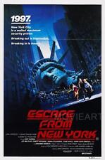 ESCAPE de Nueva York Movie Poster Película A4 A3 Art Print Cine