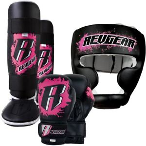 Revgear Youth Kids Boxing MMA Sparring Gear Set - Pink