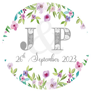 Personalised Wedding Stickers Favour Labels (A-008)
