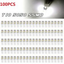 100x 6000K White T10 5050 5-SMD LED Dome Map Interior Light Bulbs 192 194 2825