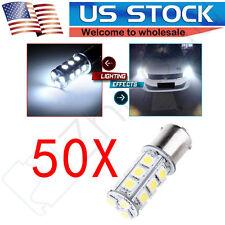50x White 5050 18SMD LED Light Bulbs 1156 BA15S For Car RV Trailer Truck Camper