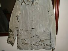 "gents size M shower proof jacket dark beige not worn no tags  44"" chest hip leng"