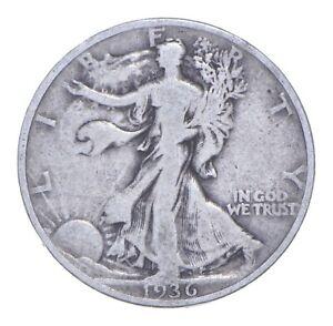 1936 Walking Liberty 90% Silver US Half Dollar *600
