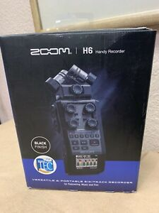 NEW Zoom H6 All Black 6-track Portable Recorder