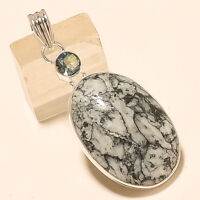 Natural American Pinolith Jasper Pendant 925 Sterling Silver Fine Jewelry Gifts