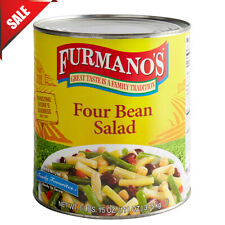 6 Case of #10 Can Four Bean Salad Food Mal Large Supply Beans Pantry New