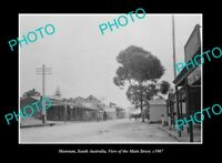 OLD POSTCARD SIZE PHOTO MANNUM SOUTH AUSTRALIA, THE MAIN STREET c1907