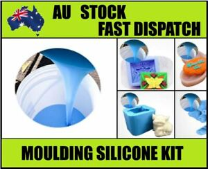 Blue 1 KG Liquid Silicone Rubber condensation-cure  Mould making KIT mix  25SH