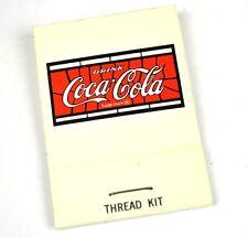 Coca cola Viaggi Set cucito Reisenaehset Kit Thread USA Anni 1970