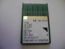 10 SIZE 70/10 GROZ BECKERT 16X257 16X231 DBX1 SEWING MACHINE NEEDLES A361
