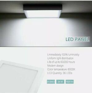 "6W LED Surface Mounted Light Panel 4.75"" Ceiling Slim Square Flat Daylight White"