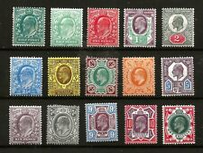 1902 (921)  SG215-259 JUBILEE  ISSUE 1/2d to 1/-SET OF 15  FINE MOUNTED MINT