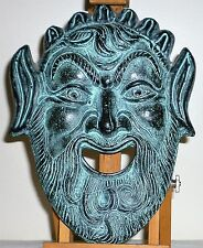 Vintage Greek of Mask of Dionysus God of Wine or a Greek Satyr Theater mask?