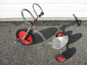 "Chrome""Big Wheel""Tricycle Rams Horn Handle Bars16Aluminum20Pedal24Seat26Bicycle"