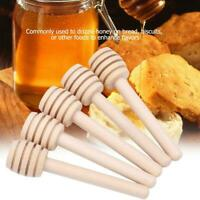 24 Pcs Wooden Jam Honey Dipper Wood Stirring Rod Stick Syrup Spoon Dip Drizzler