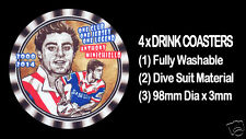 4  x ROOSTERS 2000 2014 ANTHONY MINICHIELLO FOOTBALL RUGBY LEAGUE DRINK COASTERS