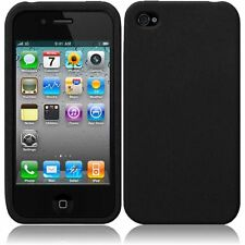 For Apple Iphone 4GS 4G CDMA GSM Silicone Skin Cover Case - Black