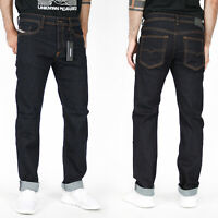 Diesel Mens Regular Slim Tapered Fit Stretch Jeans - Dark Blue - Buster R0841