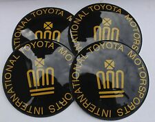 TOYOTA CROWN GOLD Hub Caps Badge Emblem Stickers 65mm Set of 4 EPOXY RESIN