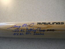 Tony Oliva Twins dual signed 3X AL Batting Champ, 5X AL Hits Leader bat / COA