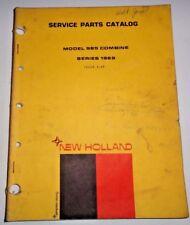 New Holland 985 Combine (Series 1969) Parts Catalog Manual Book NH 3/69 Original