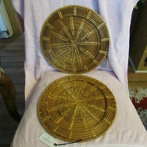 Hearth & Hand Magnolia  CHARGER PLATES Woven  Set of 2  NWT