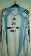 BNWT Vintage Newcastle United Maglietta da calcio da Adidas Northern ROCK LOGO longsl