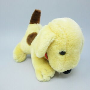 "Spot The Dog soft toy plush 9"" vintage retro yellow puppy Korea Eric Hill Inc"