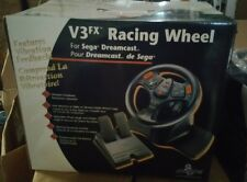NEW V3 DRIVING STEERING WHEEL CONTROLLER W/ GAS BRAKE PEDALS FOR SEGA DREAMCAST