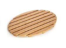 New Natural bamboo wood wooden oval bath shower duck board slatted Mat Non Slip