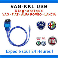 INTERFACE DE DIAGNOSTIQUE VAG KKL USB AUDI SEAT SKODA VW ALFA ROMEO FIAT