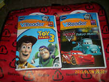 VTECH VREADER INTERACTIVE E READING SYSTEM set of 2 CARS TOKYO MATER TOY STORY 3